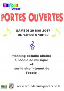 affiche musique portes ouvertes mai 2017