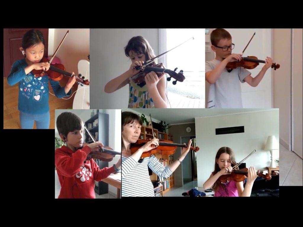 Violons (Géraldine Ayache) – 1ère performance